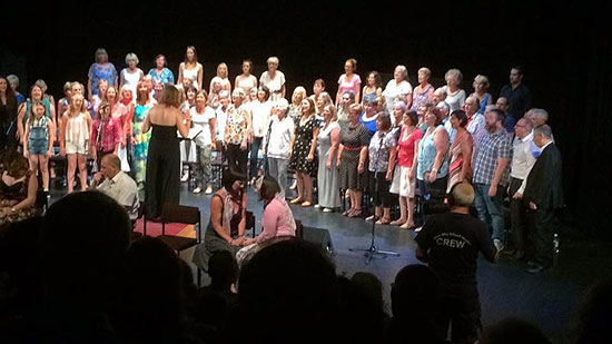Medina Community Choir at Medina Theatre in 2016 with Jezza K The Musical